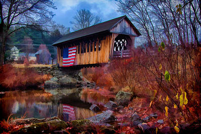Cilleyville Covered Bridge Poster by Jeff Folger