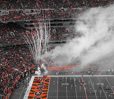 Cincinnati Bengals Playoff Bound Poster by Dan Sproul