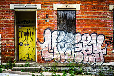 Cincinnati Glencoe Auburn Place Graffiti Picture Poster by Paul Velgos
