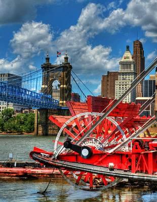 Cincinnati Landmarks 1 Poster by Mel Steinhauer