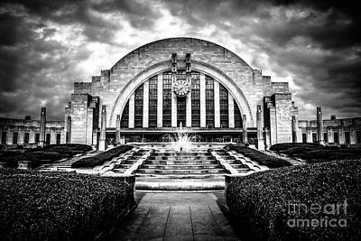 Cincinnati Museum Center Black And White Picture Poster by Paul Velgos