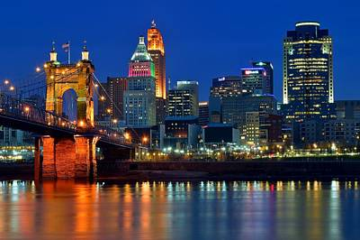 Cincinnati Over The Ohio River Poster