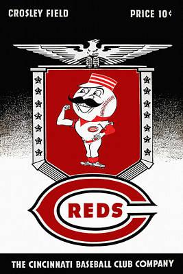 Cincinnati Reds Vintage Program Poster by Big 88 Artworks