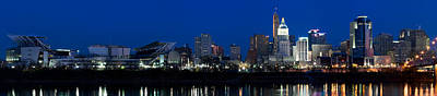 Cincinnati Skyline And John A. Roebling Poster by Panoramic Images