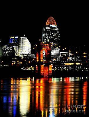 Cincinnati Skyline Dreams 4 Poster by Mel Steinhauer