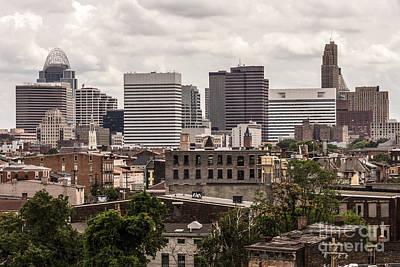 Cincinnati Skyline Old And New Buildings Poster by Paul Velgos