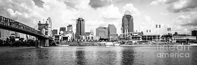 Cincinnati Skyline Panoramic Picture Poster by Paul Velgos