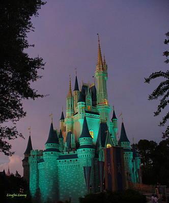 Cinderella Castle At Night  Poster