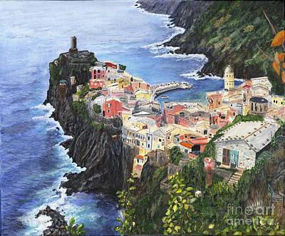 Cinque Terra Painting Poster by Timothy Hacker