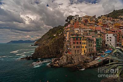 Cinque Terre Riomaggiore Poster by Mike Reid