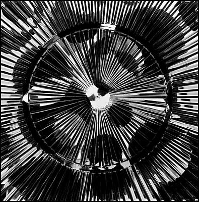 Poster featuring the photograph Circles And Spokes by Geraldine Alexander