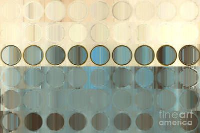 Circles And Squares 18. Modern Home Decor Art Poster by Mark Lawrence