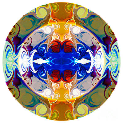 Circling Reality Abstract Circle Artwork By Omaste Witkowski Poster by Omaste Witkowski