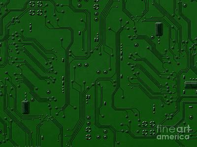 Circuit Board Poster by Bedros Awak