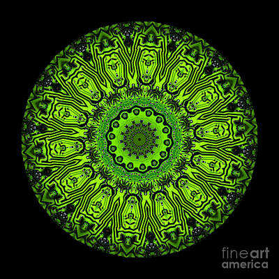 Circuit Board Kaleidoscope Poster by Amy Cicconi