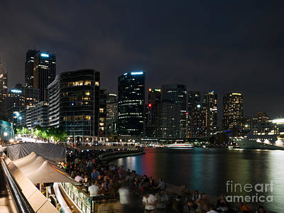 Circular Quay At Night Poster by Matteo Colombo