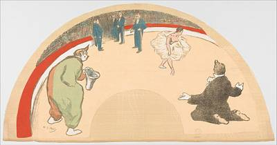 Circus Arena With The Clown And Ballet Poster by Henri-Gabriel Ibels