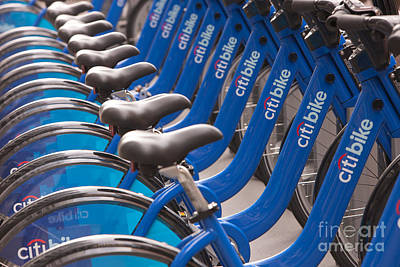 Citi Bike Bicycles I Poster by Clarence Holmes