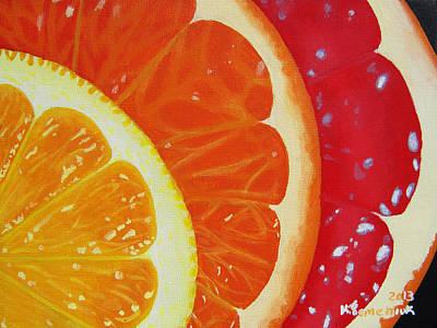 Citrus Hue Poster by Kayleigh Semeniuk