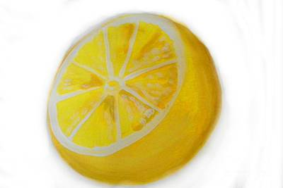 Poster featuring the painting Citrus by Marisela Mungia