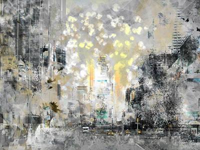 City-art Manhattan Sunflower Poster by Melanie Viola