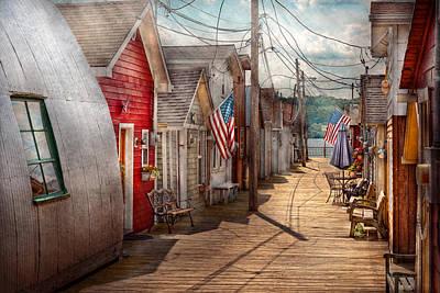 City - Canandaigua Ny - Shanty Town  Poster by Mike Savad