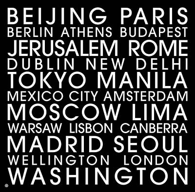 City Capitals Poster by Gary Grayson