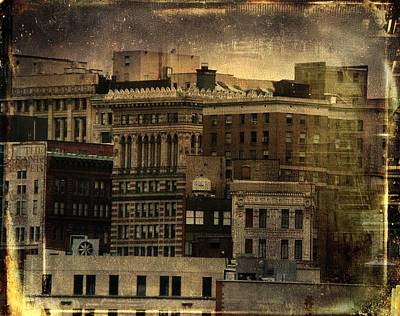 The City Buildings In Pittsburgh  Poster by Gothicrow Images