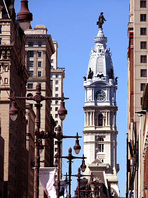 Poster featuring the photograph Philadelphia City Hall From Broad St by Christopher Woods