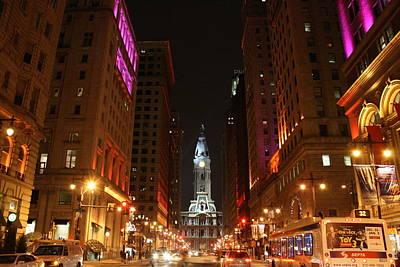 Philadelphia City Lights Poster