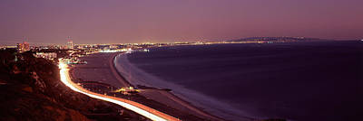 City Lit Up At Night, Highway 101 Poster by Panoramic Images