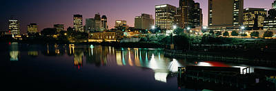 City Lit Up At Night, Newark, New Poster by Panoramic Images