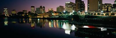 City Lit Up At Night, Newark, New Poster