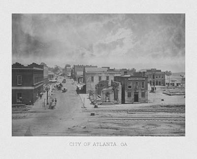 City Of Atlanta 1863 Poster by War Is Hell Store