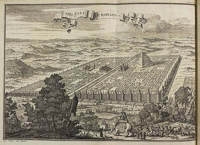 City Of Babylon And Surrounding Area Poster by British Library