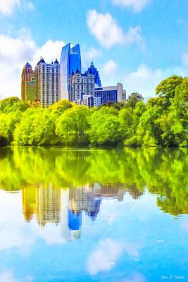 City Of Tomorrow - Atlanta Midtown Skyline Poster by Mark E Tisdale