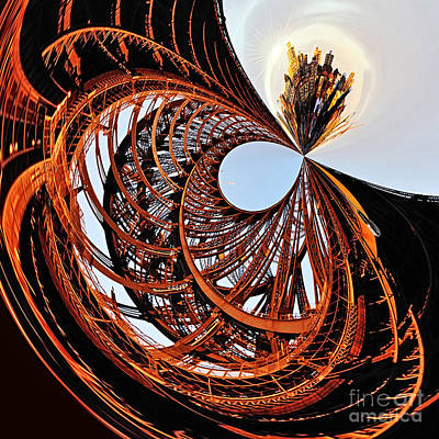 City Roller Coaster In The Sky Poster by Kaye Menner