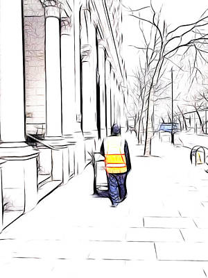 City Streets 3 Poster by Sharon Lisa Clarke
