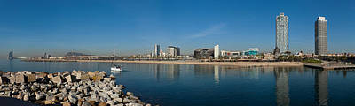 City View From Port Olimpic, Barcelona Poster by Panoramic Images