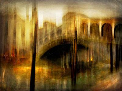 Poster featuring the photograph Cityscape #22. Venetian Bridge by Alfredo Gonzalez