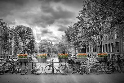 Cityscape Amsterdam Poster