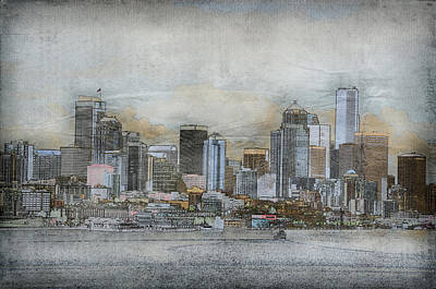 Poster featuring the digital art Cityscape by Davina Washington