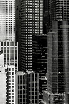 Cityscape In Black And White Poster