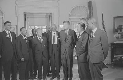 Civil Rights Leaders Meet Poster by Stocktrek Images