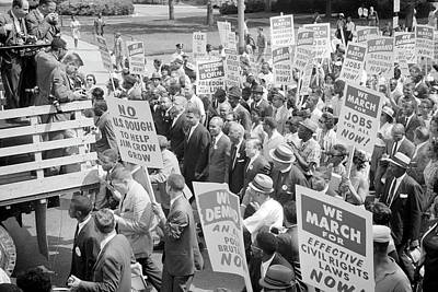 Civil Rights Leaders Surrounded Poster