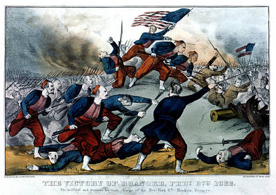 Civil War Battle Of Roanoke Poster