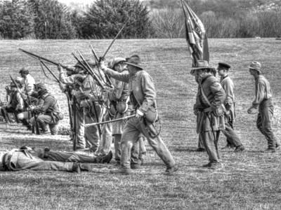 civil war confederate Troops v4 Poster
