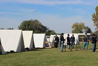 Civil War Encampment Poster by Earl  Eells a
