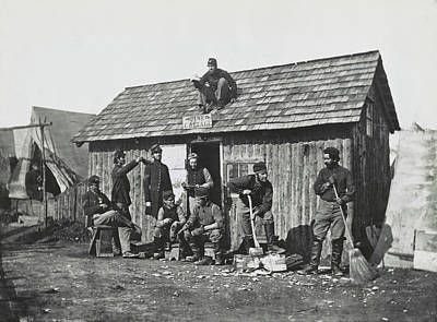 Civil War Soldiers In Front Poster