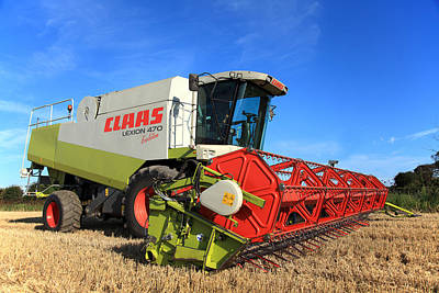 Claas Lexion 470 Evolution Combine Harvester Poster by Paul Lilley